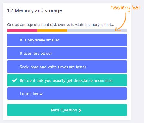 Mastery bar
